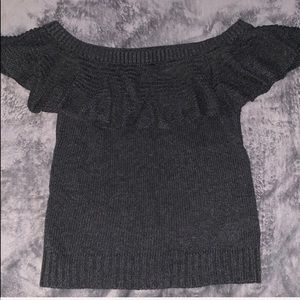 American Eagle Outfitters Tops - AE Off the Shoulder Knitted Blouse